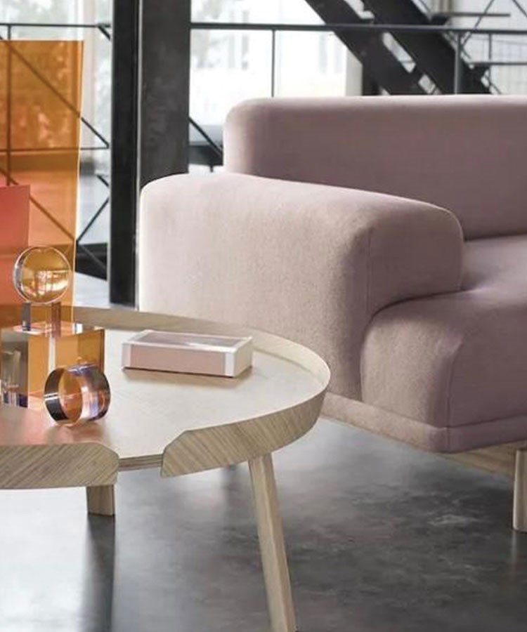 a couch and a coffee table
