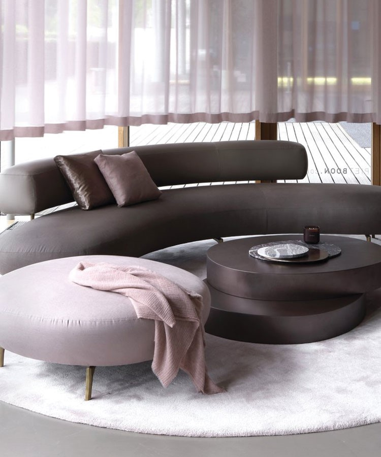 a couch with a table and a coffee table