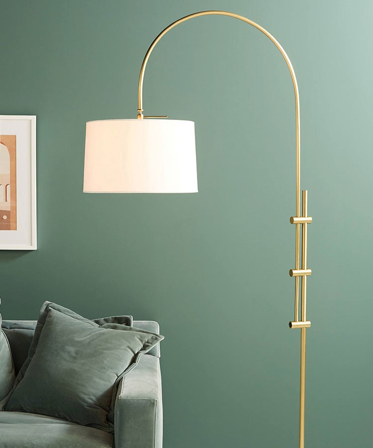 a lamp from a wall