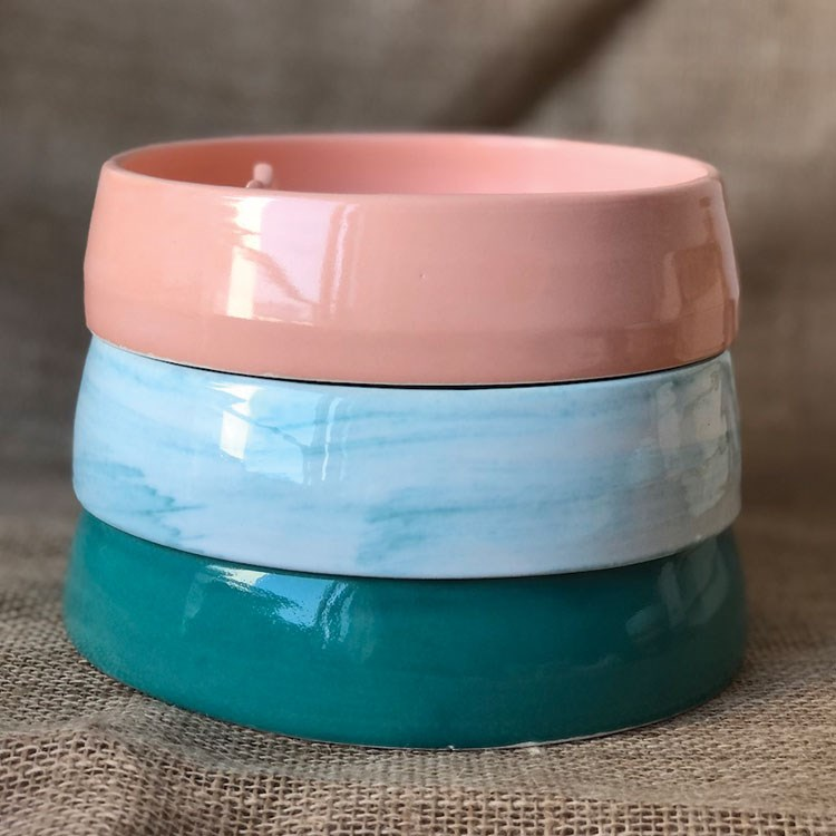a blue and pink container