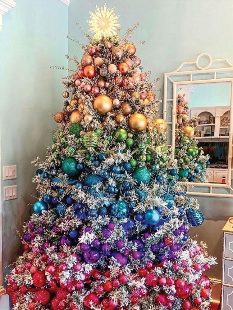 a christmas tree with ornaments