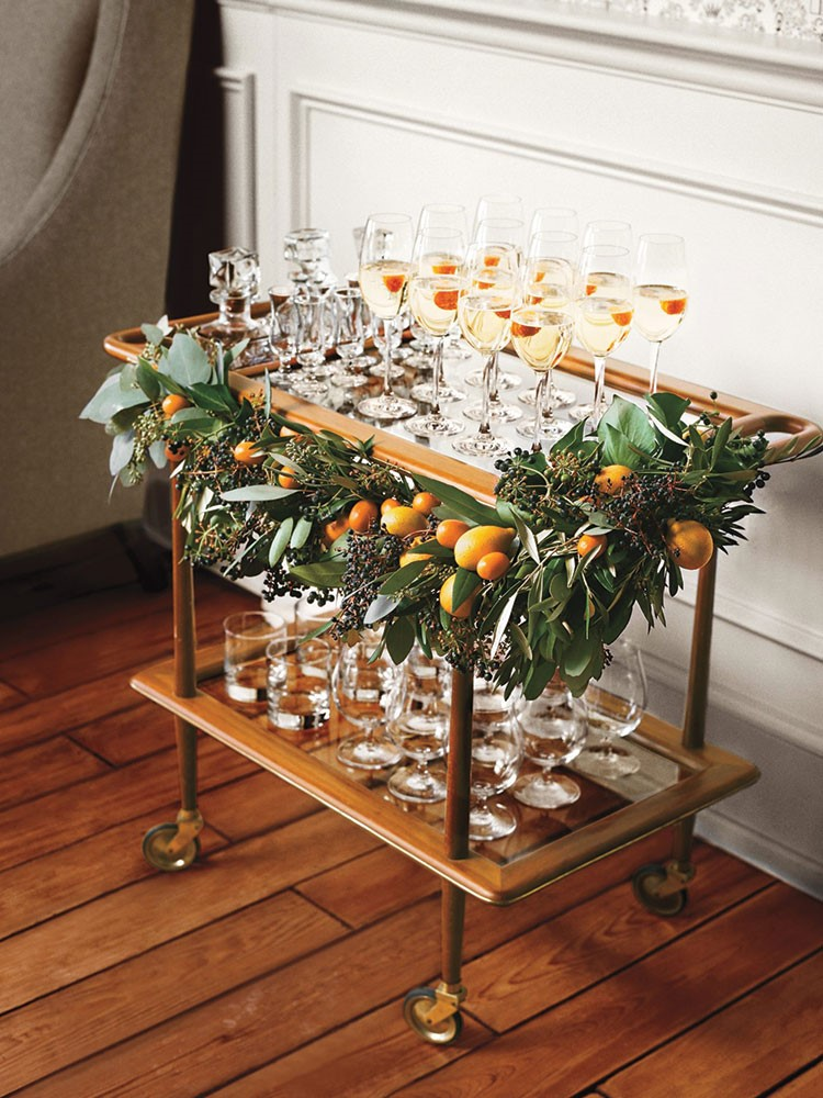 a table with glasses of wine