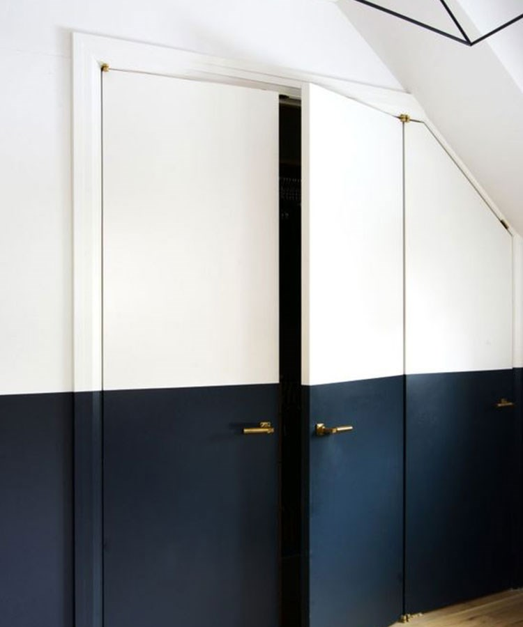 a black door with a white frame