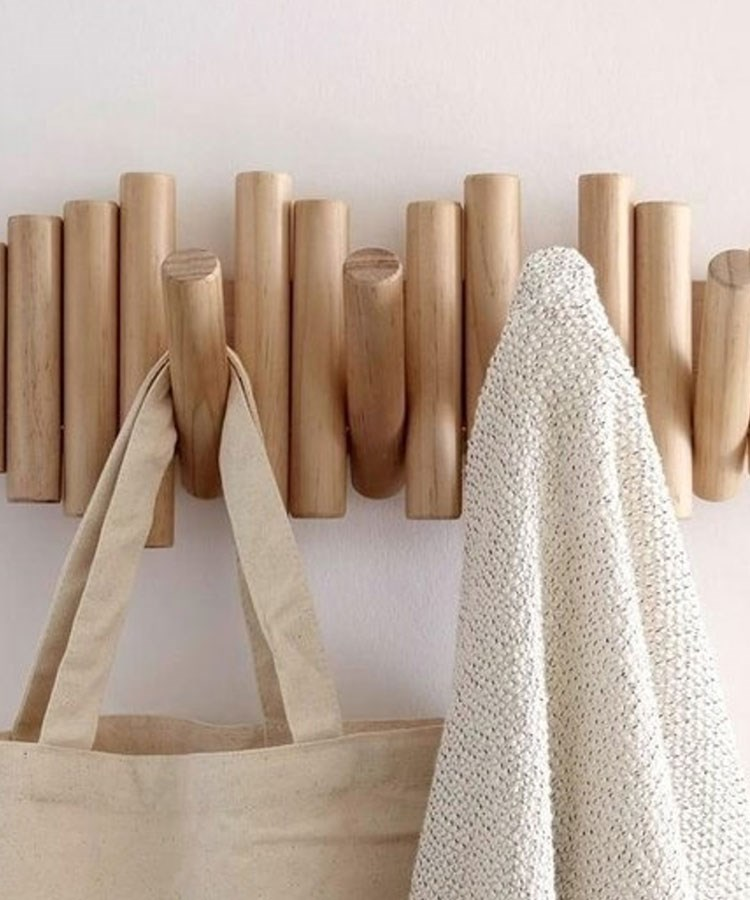 a group of wooden objects