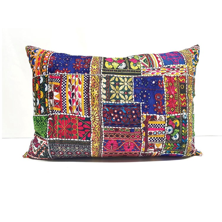 a colorful pillow with a design