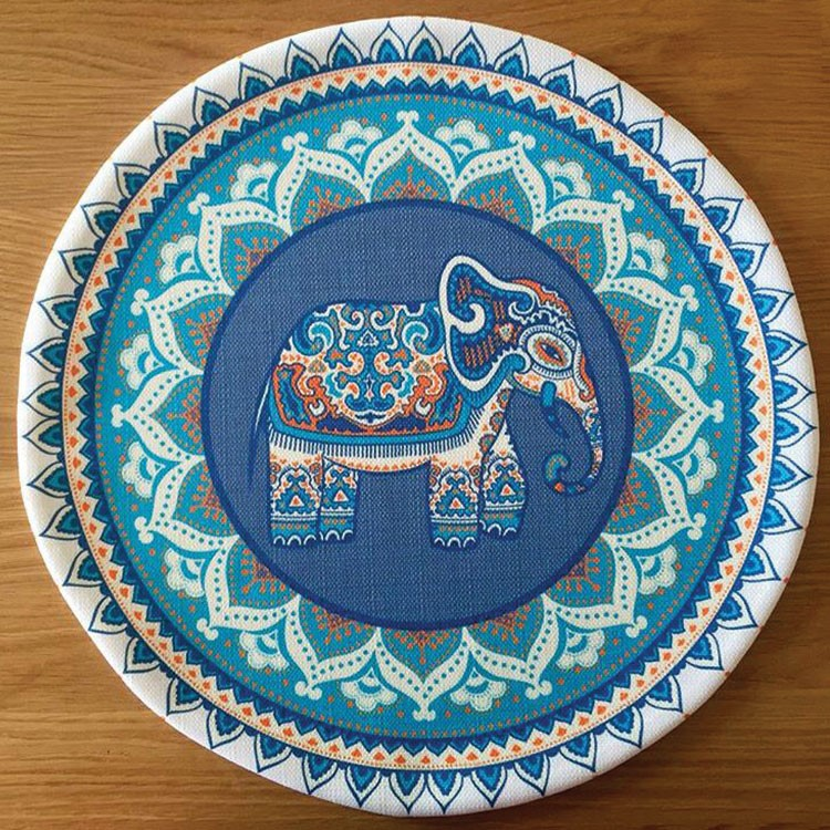 a plate with a design on it