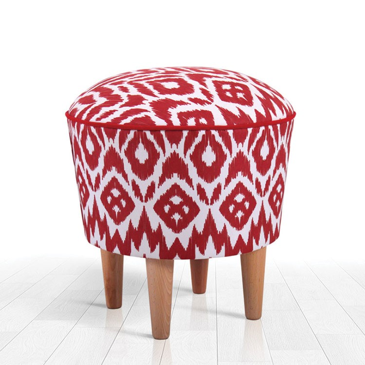 a red and white chair