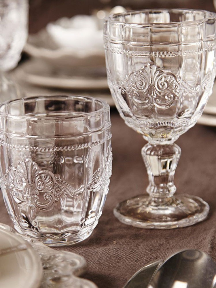 a couple of empty glasses