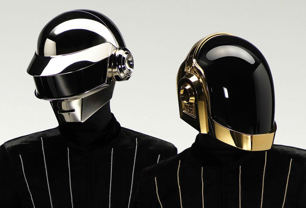 a group of black and silver helmets
