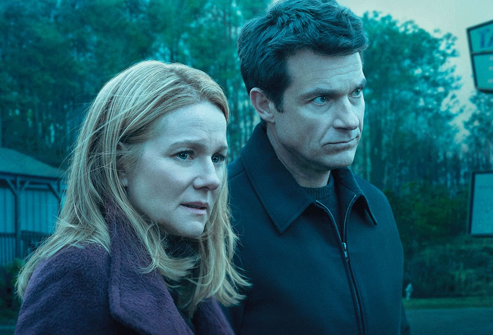 Laura Linney, Jason Bateman are posing for a picture