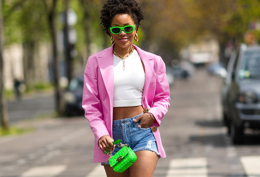 a person in a pink jacket