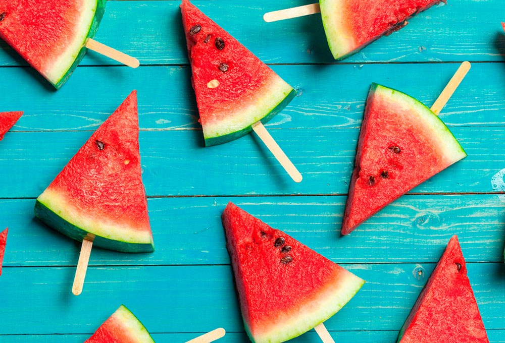 a group of watermelons