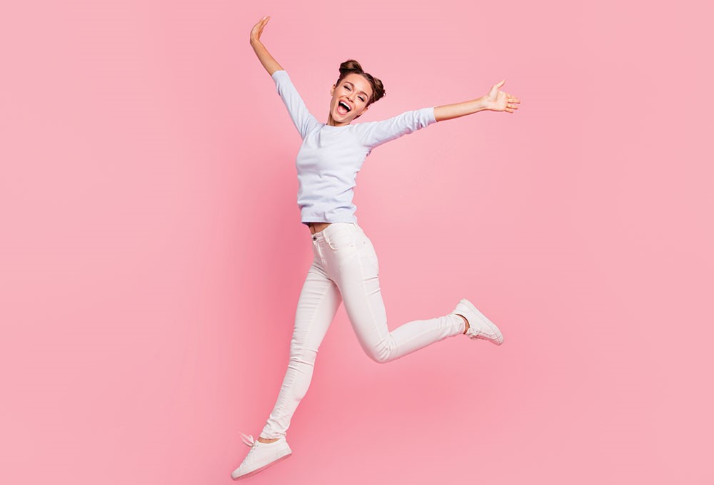 a person jumping in the air