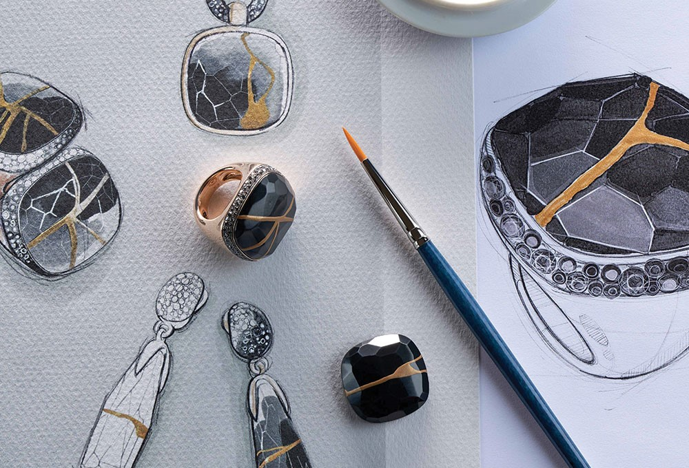 a group of objects on a surface
