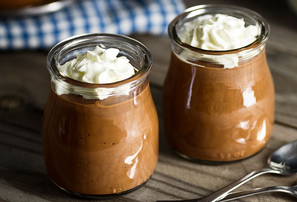 a couple of jars with food in them