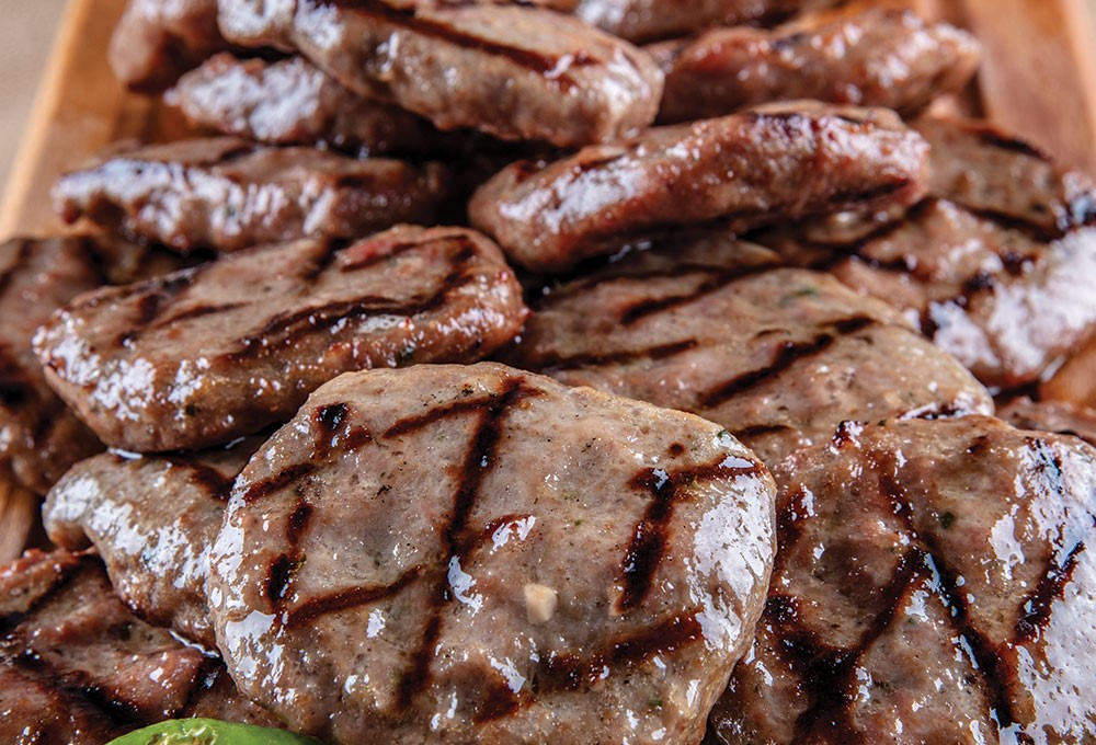 a pile of cooked meat