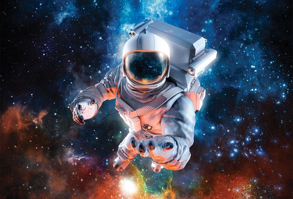 a person in a space suit